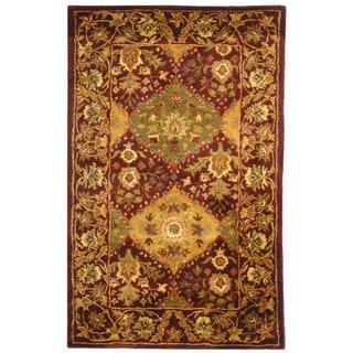 Safavieh Handmade Tabriz Wine Wool Rug (2' x 3')