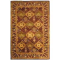 Safavieh Handmade Tabriz Wine Wool Rug - 9'6 x 13'6