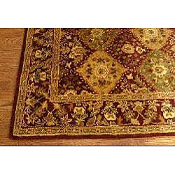 Safavieh Handmade Tabriz Wine Wool Rug (6' x 9')