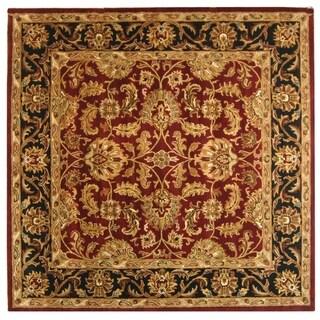 Amazing Safavieh Handmade Heritage Traditional Kashan Burgundy/ Black Wool Rug (8u0027  Square)