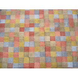 Indo Tibetan Multicolored Area Rug (5' x 8')