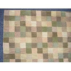 Indo Tibetan Multi-colored Rug (5' x 8') - Thumbnail 1