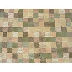 Indo Tibetan Multi-colored Rug (5' x 8') - Thumbnail 2