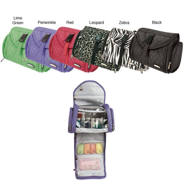 Travelon Large Microfiber Hanging Toiletry Kit with Zippered Pockets
