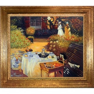 Monet 'The Luncheon' Hand-painted Oil Canvas