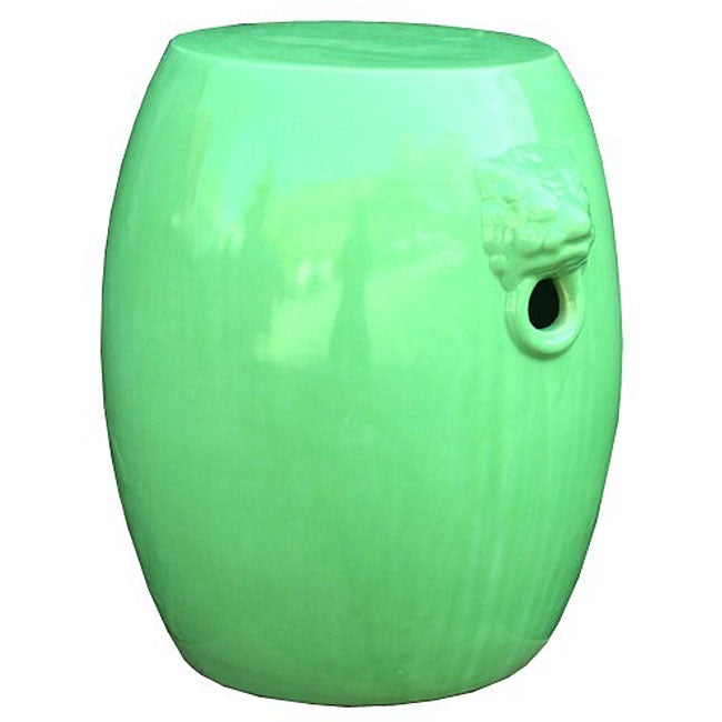 Dragon Head Green Apple Ceramic Garden Stool Free