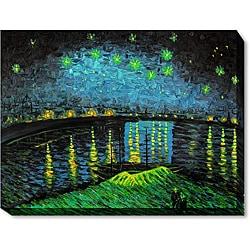 Vincent Van Gogh 'Starry Night Over Rhone' Oil Art