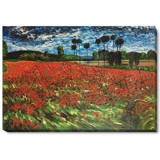 Van Gogh 'Field with Poppies' Oil Reproduction