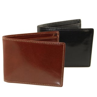 Colombo Black/ Cognac Secure Flap-up Billfold