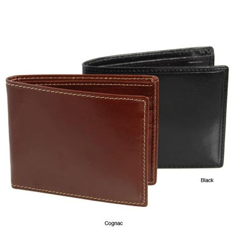 Colombo Men's Black/ Cognac Slim Billfold Wallet