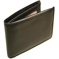 Romano Men's Black Flip-up Billfold Wallet