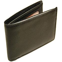 Romano Men's Black Flip-up Billfold Wallet
