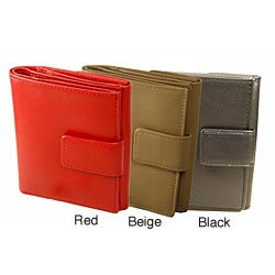 Romano Women's Black/ Red/ Beige Snap Closure Wallet