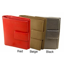 Romano Women's Black/ Red/ Beige Snap Closure Wallet