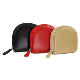 Castello Women's Large Refined Nappa-leather Zip Coin Pouch Wallet
