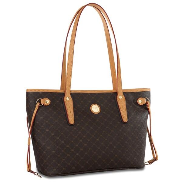 Rioni Signature Small Brown Luxury Tote Bag