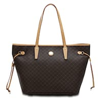 Rioni Signature Medium Luxury Tote - Brown