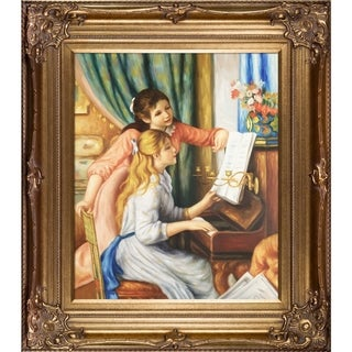 Renoir 'Young Girls at the Piano' Oil Canvas