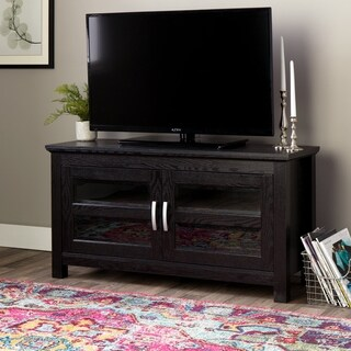44-in Black Wood TV Stand