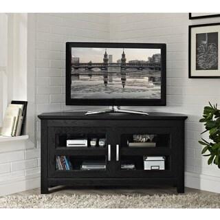 Clay Alder Home Hardy Black Wood 44 Inch Corner TV Stand