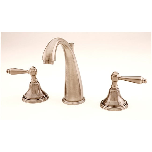 Giagni Widespread Lever Handle Satin Nickel Lavatory Faucet