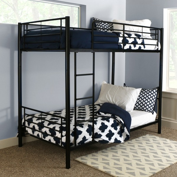Black metal twin bunk bed free shipping today Black bunk beds