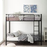 Black Metal Twin Bunk Bed