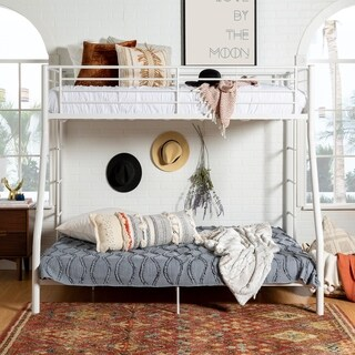 White Metal Bunk Bed - Twin Over Full