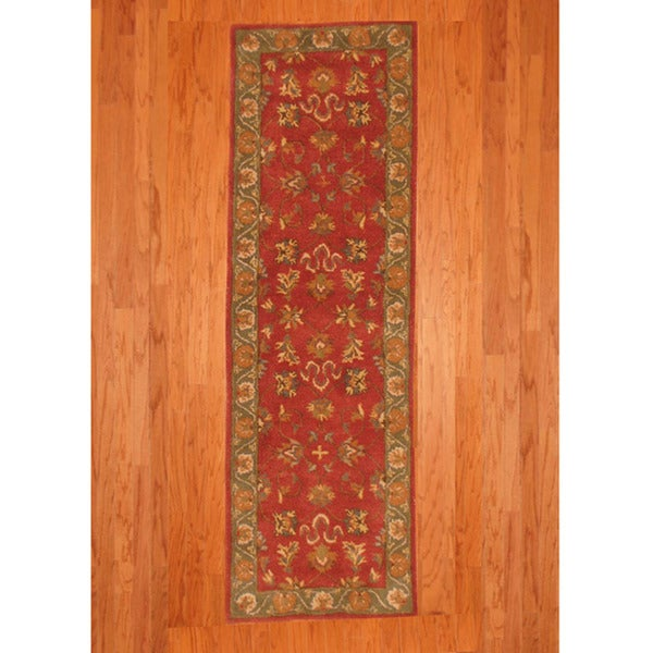Indo Mahal Red Runner Rug (2'6 x 8')