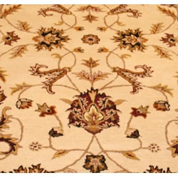 Indo Mahal Hand-tufted Beige/ Red Rug (5'3 x 8'2)