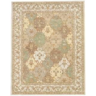 Herat Oriental Indo Hand-tufted Tabriz Wool Rug (7'3 x 9'3)