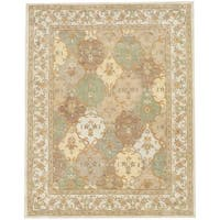 Herat Oriental Indo Hand-tufted Tabriz Wool Rug (7'3 x 9'3) - 7'3 x 9'3