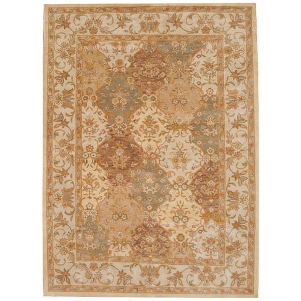 Handmade Herat Oriental Indo Tabriz Wool Rug - 8'3 x 11' (India)