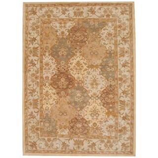 Herat Oriental Indo Hand-tufted Tabriz Wool Rug (8'3 x 11) - 8'3 x 11'