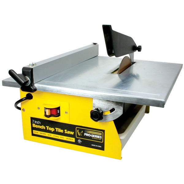 Shop Bench Top 7 Inch Tile Saw Free Shipping Today