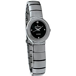 Peugeot Swiss Women's Tungsten Carbide Crystal Watch