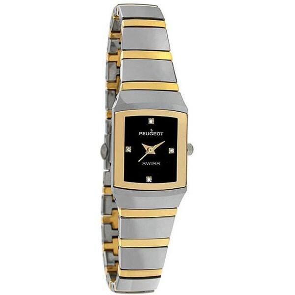 Peugeot Swiss Women's Two-tone Tungsten Carbide Watch