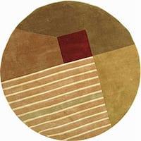 "Safavieh Handmade Rodeo Drive Modern Abstract Multicolored Wool Rug - 5'-9"" X 5'-9"" Round"