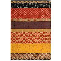 Safavieh Handmade Rodeo Drive Bohemian Collage Rust/ Gold Wool Rug - 9'6 x 13'6