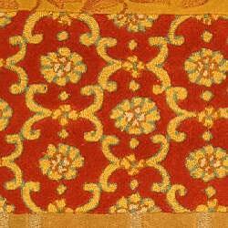 Safavieh Handmade Rodeo Drive Bohemian Collage Rust/ Gold Wool Runner (2'6 x 12') - Thumbnail 2