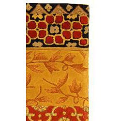 Safavieh Handmade Rodeo Drive Bohemian Collage Rust/ Gold Wool Runner (2'6 x 14') - Thumbnail 1