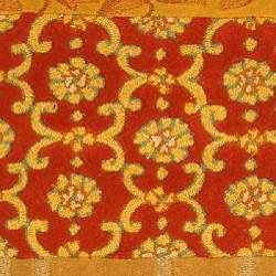 Safavieh Handmade Rodeo Drive Bohemian Collage Rust/ Gold Wool Runner (2'6 x 14') - Thumbnail 2