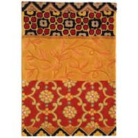 "Safavieh Handmade Rodeo Drive Bohemian Collage Rust/ Gold Wool Rug (2' 6"" x 4' 6"") - 2'6 x 4'6"