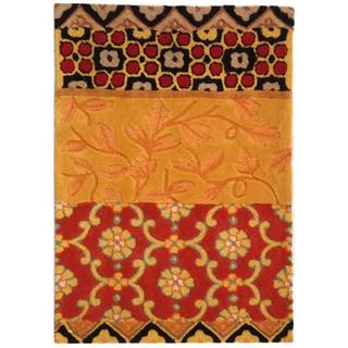"Safavieh Handmade Rodeo Drive Bohemian Collage Rust/ Gold Wool Rug (2' 6"" x 4' 6"")"