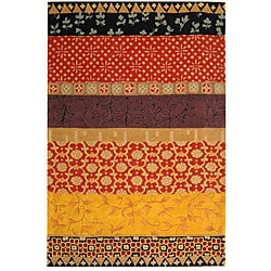 Safavieh Handmade Rodeo Drive Bohemian Collage Rust/ Gold Wool Rug (3'6 x 5'6)