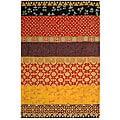 Safavieh Handmade Rodeo Drive Bohemian Collage Rust/ Gold Wool Rug (3'6 x 5'6)