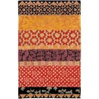 Safavieh Handmade Rodeo Drive Bohemian Collage Rust/ Gold Wool Rug - 5' X 8'