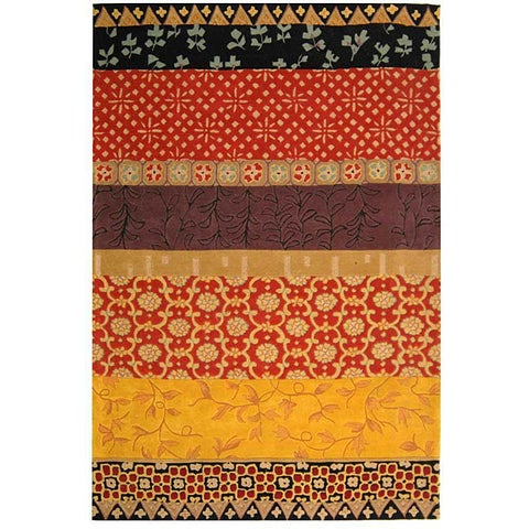 Safavieh Handmade Rodeo Drive Bohemian Collage Rust/ Gold Wool Rug - 6' x 9'