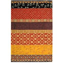 Safavieh Handmade Rodeo Drive Bohemian Collage Rust/ Gold Wool Rug (6' x 9')
