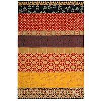 "Safavieh Handmade Rodeo Drive Bohemian Collage Rust/ Gold Wool Rug - 7'6"" x 9'6"""